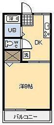 フォーブル祇園[205号室]の間取り