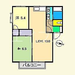 高知県高知市大津乙の賃貸アパートの間取り