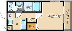 ヴィラナリー鶴見[3階]の間取り