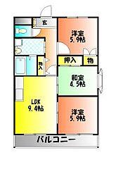 フェルメールクロズミ[2階]の間取り