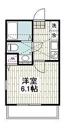 JR京浜東北・根岸線 本郷台駅 徒歩12分の賃貸アパート 1階1Kの間取り