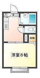 レジデンス三山[1階]の間取り