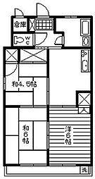 桜園ハイツ[205号室]の間取り