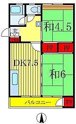森田マンション1号棟[1-403号室]の間取り