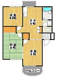 リンデンハウス北八幡[2階]の間取り
