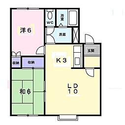 北海道札幌市厚別区厚別南6丁目の賃貸アパートの間取り