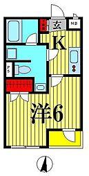 b`CASA Moderna[303号室]の間取り