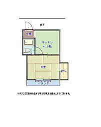 畑屋敷第一ビル[402号室]の間取り