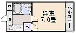 シャトードゥクリヨン[1階]の間取り