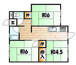 第二五和荘[1階]の間取り