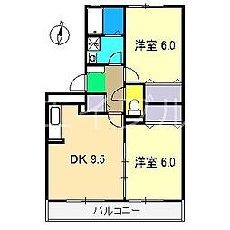 パストラル B棟[2階]の間取り