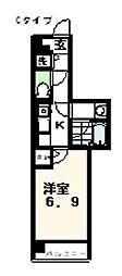 イーストガーデンリバーサイド町田[4階]の間取り