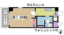 ラ・フォンテ神戸長田[902号室]の間取り