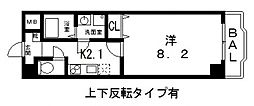 ルミエール八尾II[907号室号室]の間取り