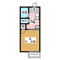 ひかりハイツB棟[2階]の間取り