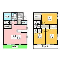[テラスハウス] 愛知県名古屋市瑞穂区岳見町6丁目 の賃貸【/】の間取り