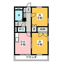 クレオメ[1階]の間取り