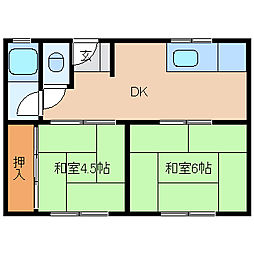 兵庫県尼崎市東難波町3丁目の賃貸マンションの間取り