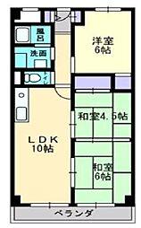 城北マンション[3階]の間取り