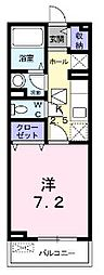 広島県福山市久松台1丁目の賃貸アパートの間取り