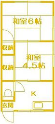 塚田アパート[2階]の間取り
