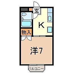 静岡県沼津市新宿町の賃貸アパートの間取り