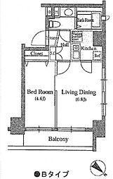 東池袋デュープレックスR's[2階]の間取り