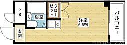 Osaka Metro今里筋線 井高野駅 徒歩7分の賃貸マンション 2階ワンルームの間取り