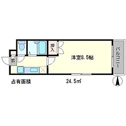 フローラ北泉[2階]の間取り