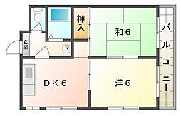 マンションハーモニー[2階]の間取り