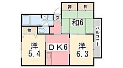 シャーメゾン高岡西 C棟[102号室]の間取り