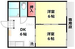 カーサ新屋敷B[1階]の間取り