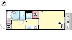 アパートメント林[205号室]の間取り