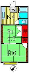 コーポ豊住[1階]の間取り