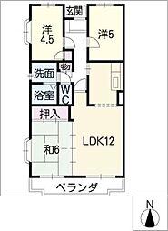 クレール桜田[1階]の間取り