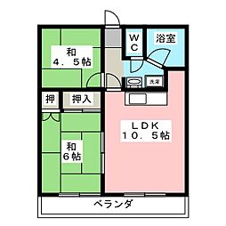 高砂マンション[2階]の間取り