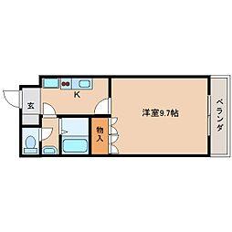 JR桜井線 天理駅 バス10分 国道櫟本下車 徒歩2分の賃貸マンション 1階1Kの間取り