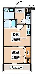 フジパレスフィオーレ八戸ノ里[2階]の間取り