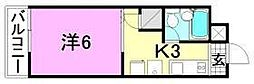 リベラル萱町[105号室]の間取り