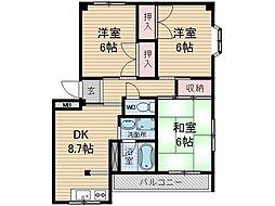 大翔ビル1号館[4階]の間取り