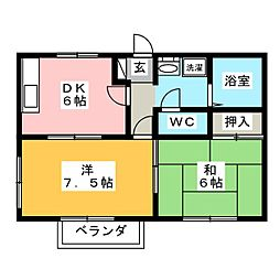 メイフェアノース[2階]の間取り