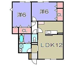 ツインレジデンスB棟[1階]の間取り