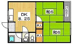 矢野ハイツ[1階]の間取り