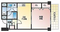 グランディール松浦[6階]の間取り
