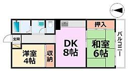 橋本第1マンション[406号室号室]の間取り