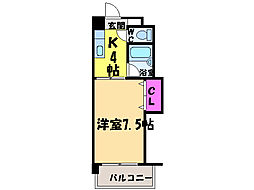 愛媛県松山市松前町4丁目の賃貸マンションの間取り