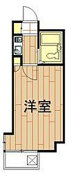 神奈川県川崎市中原区木月3丁目の賃貸マンションの間取り