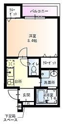 フジパレス吹田寿町5番館 2階1Kの間取り