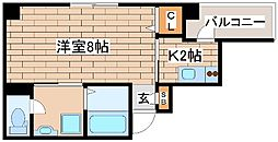 神戸市海岸線 ハーバーランド駅 徒歩9分の賃貸マンション 5階1Kの間取り
