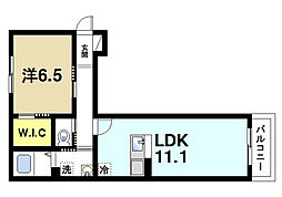 シャーメゾン平城[2階]の間取り
